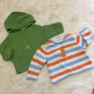 3x15 Gymboree sweater and hoodie Size 3 m